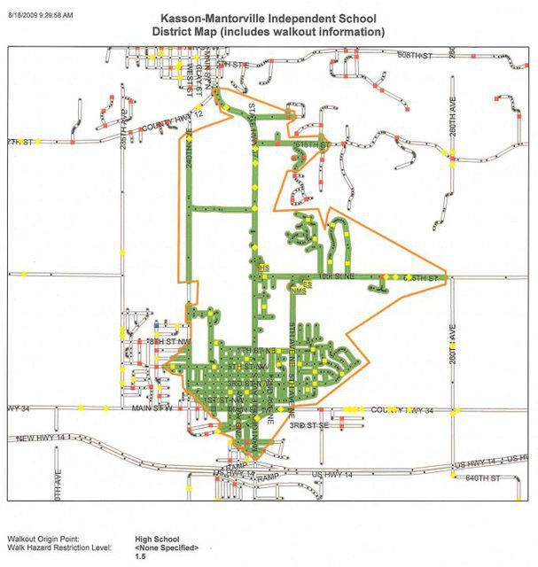 Image of High School walking map - click on the link above to view the PDF file