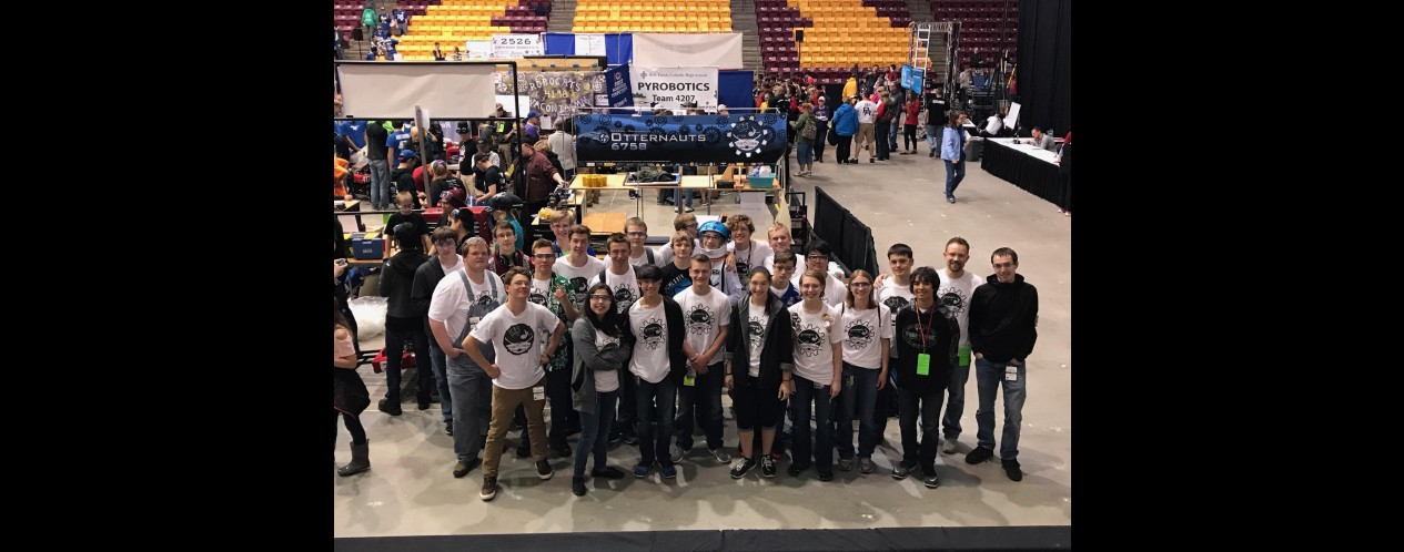 Photograph of K-M Robotics team